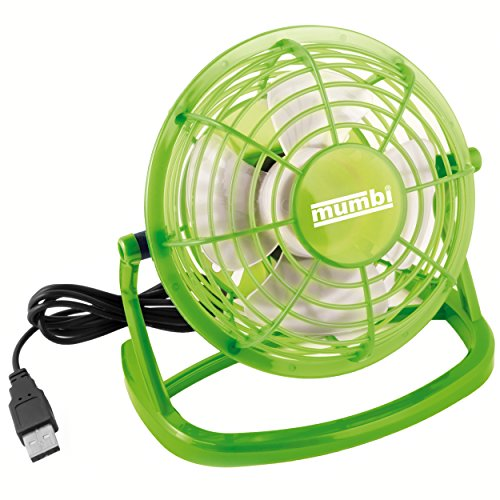 Das alles kann der Mumbi USB fan green Turboventilator